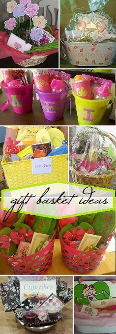 gift basket ideas. Flip flops/summer basket.