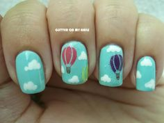 GLITTER ON MY NAILS: HOT AIR BALLOONS