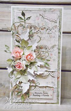 Hand made by Wisnia, Card with flowers
