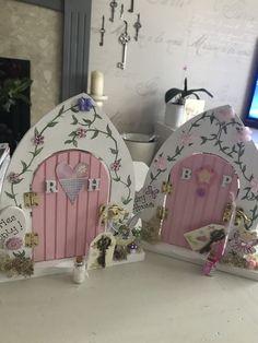 Made by Artee Phartee Fairy Crafts, Diy And Crafts, Desk Fairy, Elf Door, Diy Xmas Gifts, Door Crafts, Unicorn Bedroom, Fairy Garden Houses, Christmas Fairy
