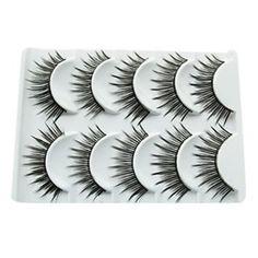 5 Pair Black Fiber Eyelash False Eyelashes 5-022