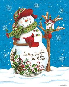 Christmas Scenes, Christmas Past, Christmas Images, Diy Christmas Ornaments, Christmas Snowman, All Things Christmas, Vintage Christmas, Snowman Quilt, Wood Snowman
