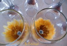 DIY Sunflower Stemware!