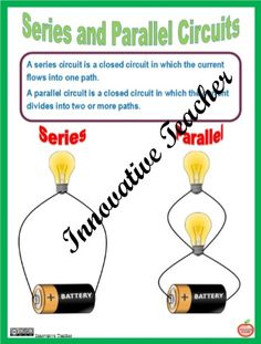 Series and Parallel Circuits by Innovative Teacher. Included are handouts, worksheets, an activity and quizzes that will help your students gain a better understanding of series and parallel circuits.