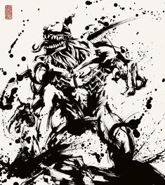 ヴェノム Comic Kunst, Comic Art, Comics Spiderman, Superhero Silhouette, Samurai Artwork, Tinta China, Disney Concept Art, Anime Films, Ink Painting