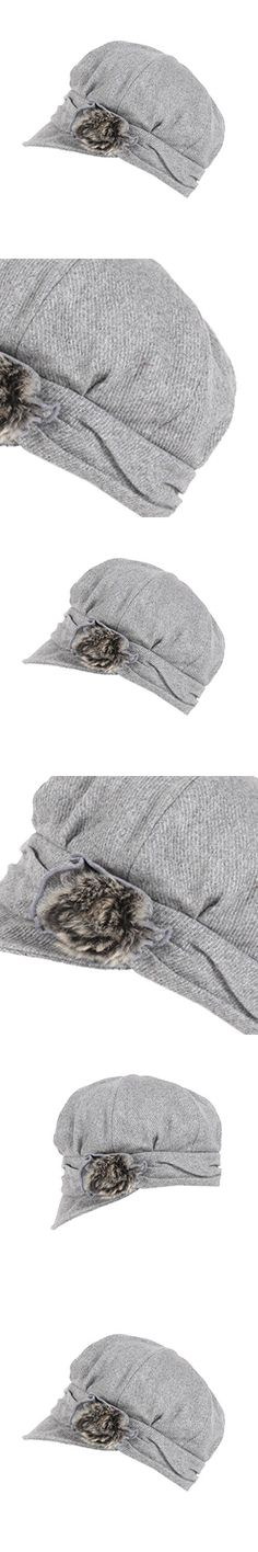 Tidecloth Women's Casual Kettle Brim Round Crown Casual Beret Hat Gray One Size