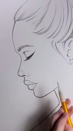 Art Drawings Beautiful, Art Drawings Sketches Simple, Pencil Art Drawings, Drawings About Love, Drawings Of People, Ideas For Drawing, Cute Drawings Tumblr, Fun Drawings, Pencil Sketching