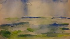 North Yorkshire landscape watercolour