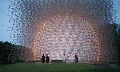The sculpture controlled by bees: Wolfgang Buttress's Hive Its 170,000 pieces of aluminium are a hive-like structure of latticework, controlled by the vibrations of honeybees in a hive at Kew that is connected to the sculpture