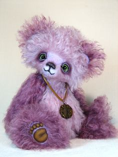 Sebastian from White Forest Bears / Teddy Bears & Pals / Teddy Talk: Creating, Collecting, Connecting Best Teddy Bear, Purple Teddy Bear, Cute Teddy Bears, Charlie Bears, Cute Stuffed Animals, Cute Cartoon Animals, Love Bear, Tatty Teddy, Bear Doll