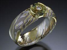 Mokume Gane Rings and Jewelry from James Binnion Metal Arts. - Mokume Gane wedding rings, engagement rings and commitment rings by James Bin...