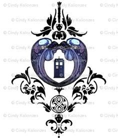 doctor who damask, great tattoo idea!!