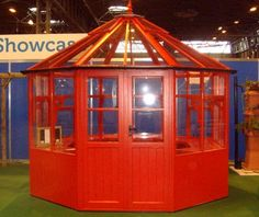Swallow Eagle Octagonal Greenhouse with double doors, 4 automatic roof vents, 2 opening sie windows and all around staging and high level shelf. Available in a choice of colours and installation included in the price from Greenhouse Stores. £4900.00 http://www.greenhousestores.co.uk/Swallow-Eagle-Octagonal-Greenhouse.htm