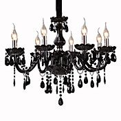 Black Crystal Chandelier with 8 Lights – USD $ 359.99- For more amazing finds a visit us at http://www.brides-book.com