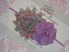 Purple Flower headband, Páscoa Faixa de Cabelo, Lavender Pérola Chiffon Flor, Baby Faixa de Cabelo, Criança Faixa de Cabelo, recém-nascido Faixa de Cabelo, cabelo roxo Bow