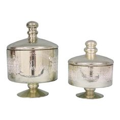 Set of 2 Bonbons & Douceurs Jars Decorated with Lace