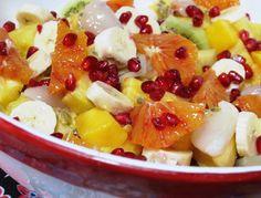 Salade de fruits exotiques : facile et rapide à préparer, rafraichissante et vitaminée.