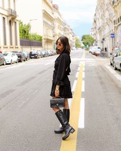 #blackoutfit #outfit #dress #boohoo #freelance #smart Boohoo, Winter Jackets, Outfits, Black, Dresses, Fashion, La Mode, Outfit, Gowns