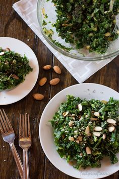 A salad recipe full of super foods like kale, avocado, hemp seeds and raw almonds. Easy and quick to make and perfect for anyone who is trying to loose weight or simply eat right.