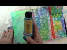 ▶ Terri Kahrs Creating Backgrounds - Part 1 - Documented Life Project - YouTube