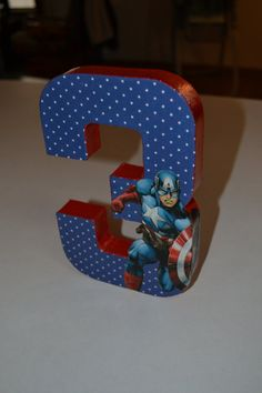 Check out this item in my Etsy shop https://www.etsy.com/listing/217986752/captain-america-birthday-number