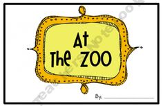 Be an Author- At the Zoo Freebie