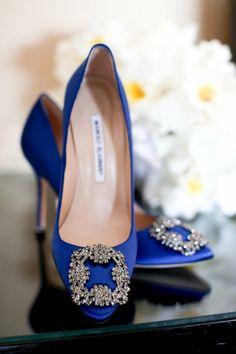 manolo blahnik blue satc carrie shoes- My husband bought me these when the movie came out. They are the exact shoes from the movie. In waiting to wear them when we renew our vows.