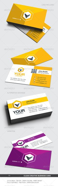Clean Corporate Creative Business Card Design - 05