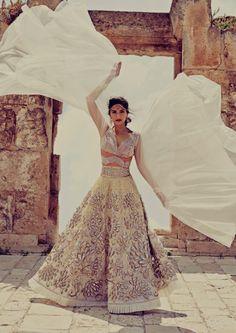 ikeepdreamingendlesslyy:  Sonam Kapoor for Harpers Bazaar Bride...