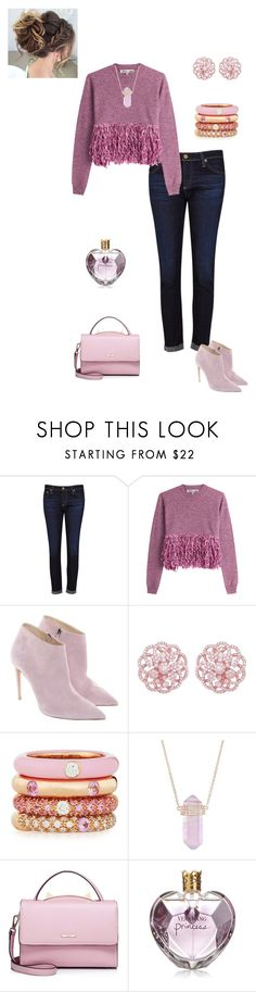 """""""pretty in pink"""" by jbillington ❤ liked on Polyvore featuring AG Adriano Goldschmied, McQ by Alexander McQueen, Ralph Lauren, Emilio!, Adolfo Courrier, Luna Skye, WithChic, Vera Wang, cute and Pink"""