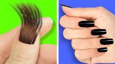 Stylish Nails, Trendy Nails, Diy Nails, Cute Nails, 5 Minute Crafts Videos, Crazy Nails, Nail Art Videos, Diy Crafts Hacks, Bizarre
