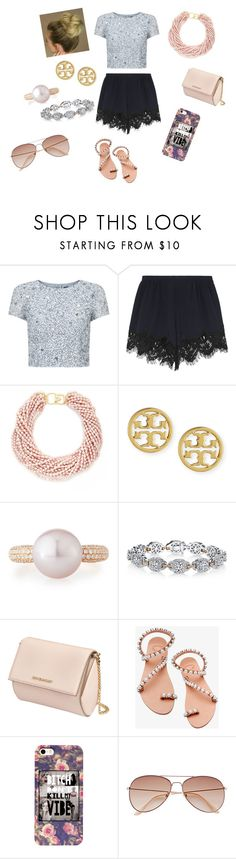 """""""A Girly Girl Dayy"""" by ms-julienteacher on Polyvore featuring Adrianna Papell, Chloé, Kenneth Jay Lane, Tory Burch, Belpearl, Harry Kotlar, Givenchy, Elina Linardaki and H&M"""