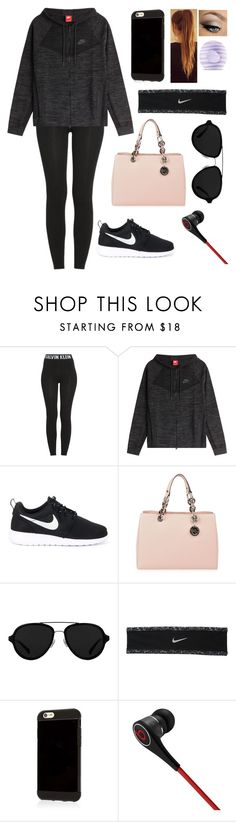 """""""What ever you decide to do. Make sure it makes you happy."""" by blessed-with-beauty-and-rage ❤ liked on Polyvore featuring Calvin Klein, NIKE, MICHAEL Michael Kors, 3.1 Phillip Lim, Beats by Dr. Dre and Eos"""