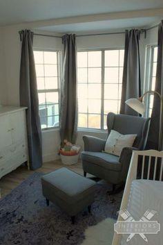 Turn the IKEA Strandmon Wingback Chair into a rocking chair.  So cute for a nursery!