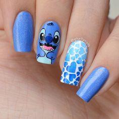 Disney Acrylic Nails, Blue Acrylic Nails, Simple Acrylic Nails, Summer Acrylic Nails, Nagellack Design, Glow Nails, Cute Acrylic Nail Designs, Pretty Nail Art, Swag Nails