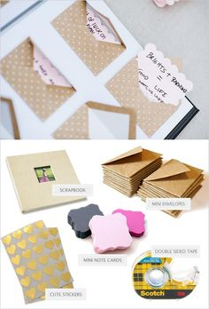 love note scrapbook | diy wedding guestbook | leave a love note | #weddingchicks