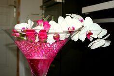 centre de table vase martini 70 cm perles d 39 eau. Black Bedroom Furniture Sets. Home Design Ideas