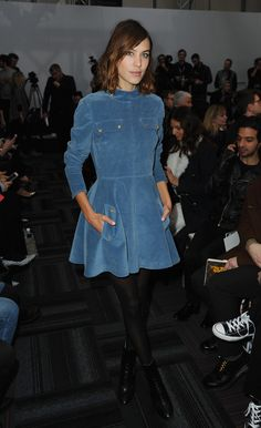 Alexa Chung attends the J.W Anderson show during London Fashion Week Fall/Winter 2015/16 on February 21, 2015 in London, England.