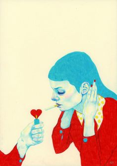 "cigarettespleasure: ""by Natalie Foss """