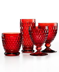 Villeroy & Boch Drinkware, Boston Collection - Web Busters - For The Home - Macy's Casual Dinnerware Sets, Strawberry Kitchen, Crystal Glassware, Bathroom Accessories Sets, Vintage Glassware, Vintage Dishes, Home Repair, Drinkware, Colored Glass