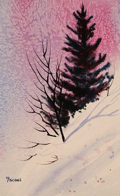 Steep Slope. watercolor by Teresa Ascone