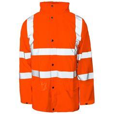 Medium Hi-vis Supertouch Orange Rainproof Jacket Stormflex Pu Breathable Rrp £55 Jacken & Mäntel