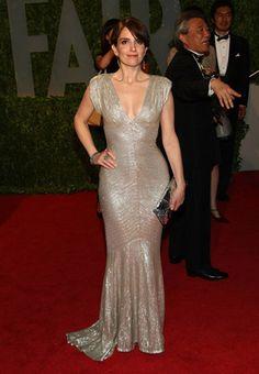 Tina Fey in Zac Posen. Oscars 2009.
