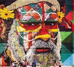 """by Eduardo Kobra, uma das faces do mural """"Las etnias"""" (2016)"""