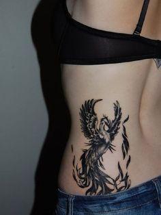 superior tribal black phoenix tattoo