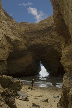 The Hidden Sea Cave, Point Loma, San Diego, California by Charles Jellison: