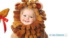 A cuddly lion infant Halloween costume. Dress up your baby in this cute lion costume for your babies first Halloween.