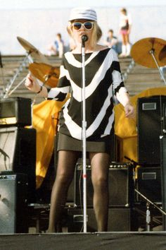 Blondie, 1983.    Mini Skirt Fashion – Photos of Iconic Mini Skirts - Harper's BAZAAR#slide-1#slide-1