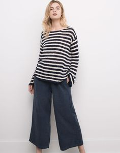 BASIC A-LINE SWEATER WITH FLARED SLEEVES - CARDIGANS & SWEATERS - WOMAN - PULL&BEAR United Kingdom