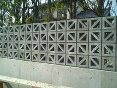花ブロック Concrete Masonry Unit, Brick Masonry, Concrete Molds, Concrete Fence, Concrete Blocks, Fence Design, Wall Design, Architectural Pattern, Cinder Block Walls